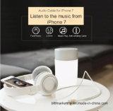 Вспомогательное аудиоий шнура к кабелю молнии на iPhone 7/7 положительных величин с штепсельной вилкой 3.5mm