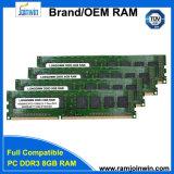 D'emballage RAM en bloc 1600MHz 1.5V de l'appareil de bureau 8GB DDR3 de CCE non