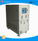 Baja temperatura de la recirculación fría del alcohol que recircula el refrigerador de agua