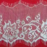 Red de flores blancas de encaje de pestañas con bordes ondulados perfectos para embarcaciones de bricolaje, accesorios de prendas de vestir