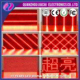 P10 de color rojo solo signos de LED programable al aire libre
