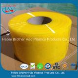 형제 Hao 반투명 노란 연약한 비닐 문 커튼은 Rolls를 분리한다
