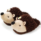 Hedgehog Brown плюша Mop материальный ягнится ботинок тапочки подарка
