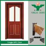 Bois amical d'Eco de porte du modèle moderne WPC et prix bas composé en plastique de porte