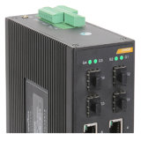 Interruptor de rede Ethernet Industrial Gigabit SFP Fiber Port