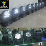 36X3w DMX 광속 LED 이동하는 맨 위 디스코 빛