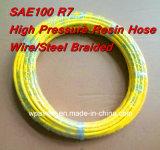 Fil de pression de SAE100 R7 7.9X14.3mm/boyau tressé en acier de résine