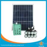 petit système 40W solaire avec le panneau et les éclairages LED de Soalr