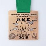 リボンが付いているデザイン顧客の金属の正方形メダル