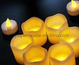 12PCS света чая желтого цвета мелькая СИД непламенные с батареей включили
