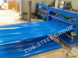 Сосредоточено на заводе гофрированной стальной пластины крыши/искривленной стенкой оболочка лист