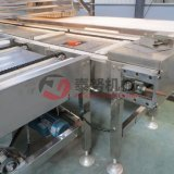 Voller automatischer Vanillepudding-Kuchen, der Maschine herstellt
