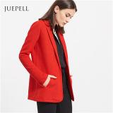 빨간 사무실 긴 소매 블레이저 코트 여자 한 벌 재킷