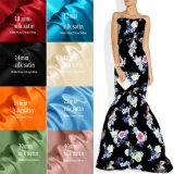 Tissu en soie de Charmeuse estampé par 40mm de coutume de fabrication pour Madame Evening Wear