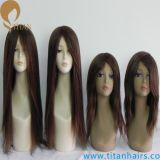 Migliori parrucche del rimontaggio dei capelli umani del Virgin di qualità per le donne