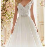 2017 a - линия платья венчания Ctm836 вертела шнурка Bridal
