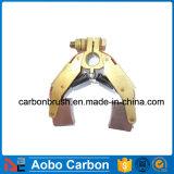Spazzola di carbone di rame del supporto e della spazzola di carbone MC19 per la pianta del cemento