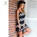 Мода Euramerican полосой Tassel шифон юбка Sexy Maxi платье на заводе