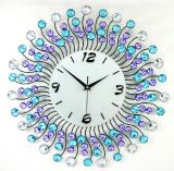 Bunter Kristallmetallrunde Form-Digital-Wand-Taktgeber