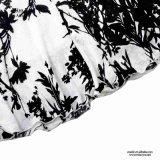 Miss You Ailinna 103079 Diseño chino Maxi vestido de algodón blanco y negro