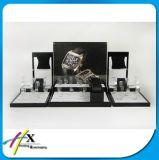 도매 피아노 광택 있는 페인트 베개 아크릴 시계 대 전시