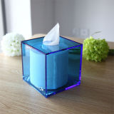De kleurrijke Vierkante AcrylDoos van het Weefsel van het Perspex