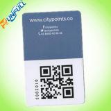 Promoción de la tarjeta de crédito de plástico al aire libre