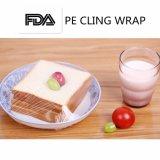 La stirata di plastica del PE ecologico aderisce pellicola dell'involucro dell'alimento