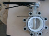 Нержавеющая сталь весь тип клапан-бабочка волочения подкладки PTFE вафли