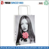 Papel plana manija del arte bolsa de papel para las compras