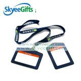 Fábrica al por mayor de la cuerda de seguridad personalizado logo del Titular de impresión de tarjetas de identificación