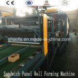 機械製造業者を作るEPSの岩綿サンドイッチパネルライン泡シート