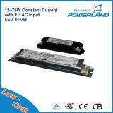 12~76W Driver de LED à courant constant avec entrée CA de l'UE