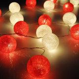 Buntes Baumwollkugel-Licht-dekoratives Licht RGB-2m20LED LED