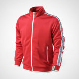 100% Poliéster 280GSM Piping Men Custom Sportswear, Casacos de inverno, Roupa de treino