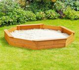 Bac à sable en bois Sandpit de la cour de jeu extérieure octogonale des enfants