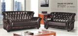 Neues klassisches Tasten-Leder-Sofa, Kombinations-Sofa (8295)