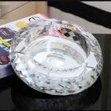 Vidrio al por mayor cristalino redondo de la Cenicero para la decoración del hogar