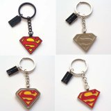 De Sleutel van de Legering van het Zink van het wonder ketent Sleutelringen van de Tegenhanger van de Batman van Keychain van de Superman van de Held van Ringen de Super