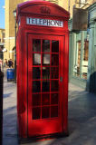 Cabina di telefono inglese rossa personalizzata professionista caldo del metallo di vendita 2017