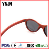 Ynjn Hand Made Red Óculos de sol de madeira natural