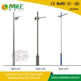 Feux de la rue à énergie solaire en acier de bonne qualité tout type de pôle de lumière pour lampe à LED