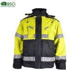 Custom Mens le phoque à capuchon de l'hiver vestes imperméables antistatique devoir de la police Workwear uniforme réfléchissante