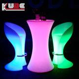 Cor de múltiplos luz RGB LED Fonte Bar mesas e cadeiras
