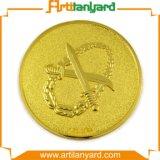 Moeda personalizada da lembrança do desafio do ouro do metal