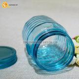 de blauwe In reliëf gemaakte Deksels van de Kruik van de Metselaar van het Glas van de Kleur