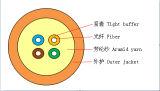 광섬유 장비에 있는 4개의 코어 광섬유 케이블