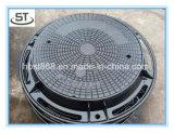 OEMのデッサンEn124 D400の延性がある鉄の円形のマンホールカバー