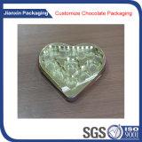 Bandeja descartável do plástico de Chocelate da forma do coração