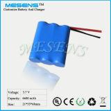 3.7V 6600mAh nachladbare Lithium-Batterie